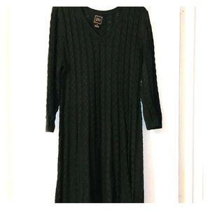 A Line Sweater Dress